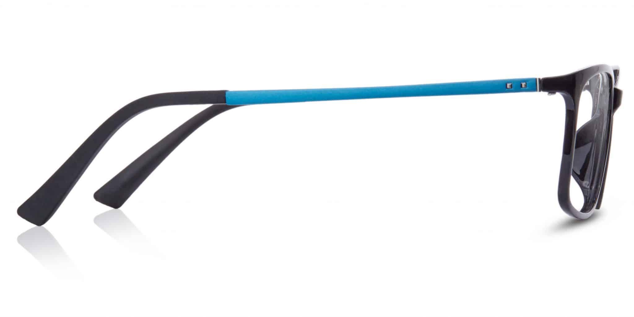 פלסטיק שחור עם מוטות כחולים