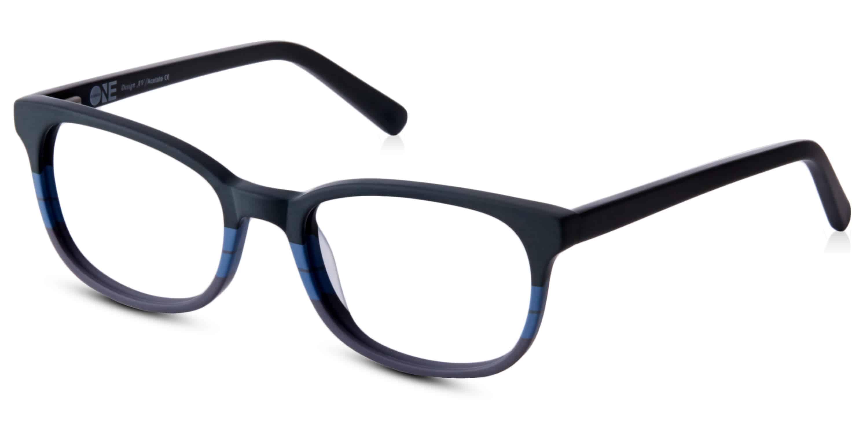 ONE- פלסטיק שחור כחול ואפור מתחלף
