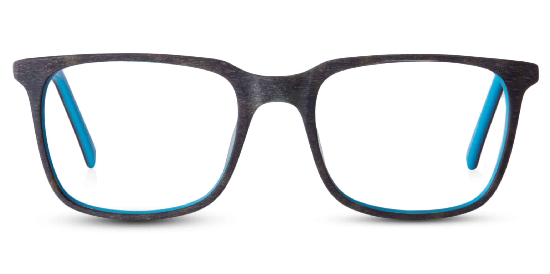 ONE- גימור עץ חום או אפור עם פנים ירוק או כחול