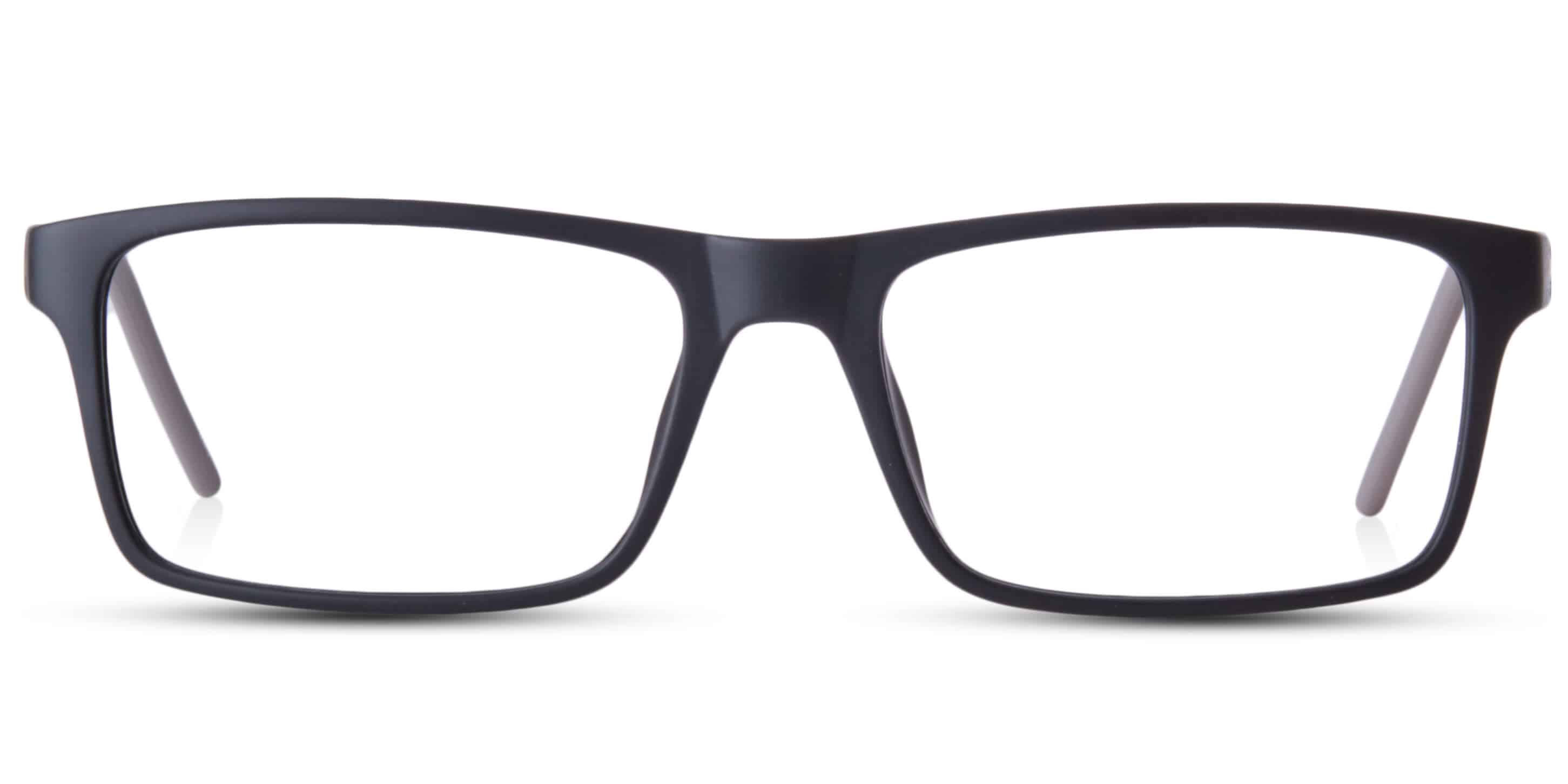 WILSON - Black plastic glasses with colored temples | Glasses4U