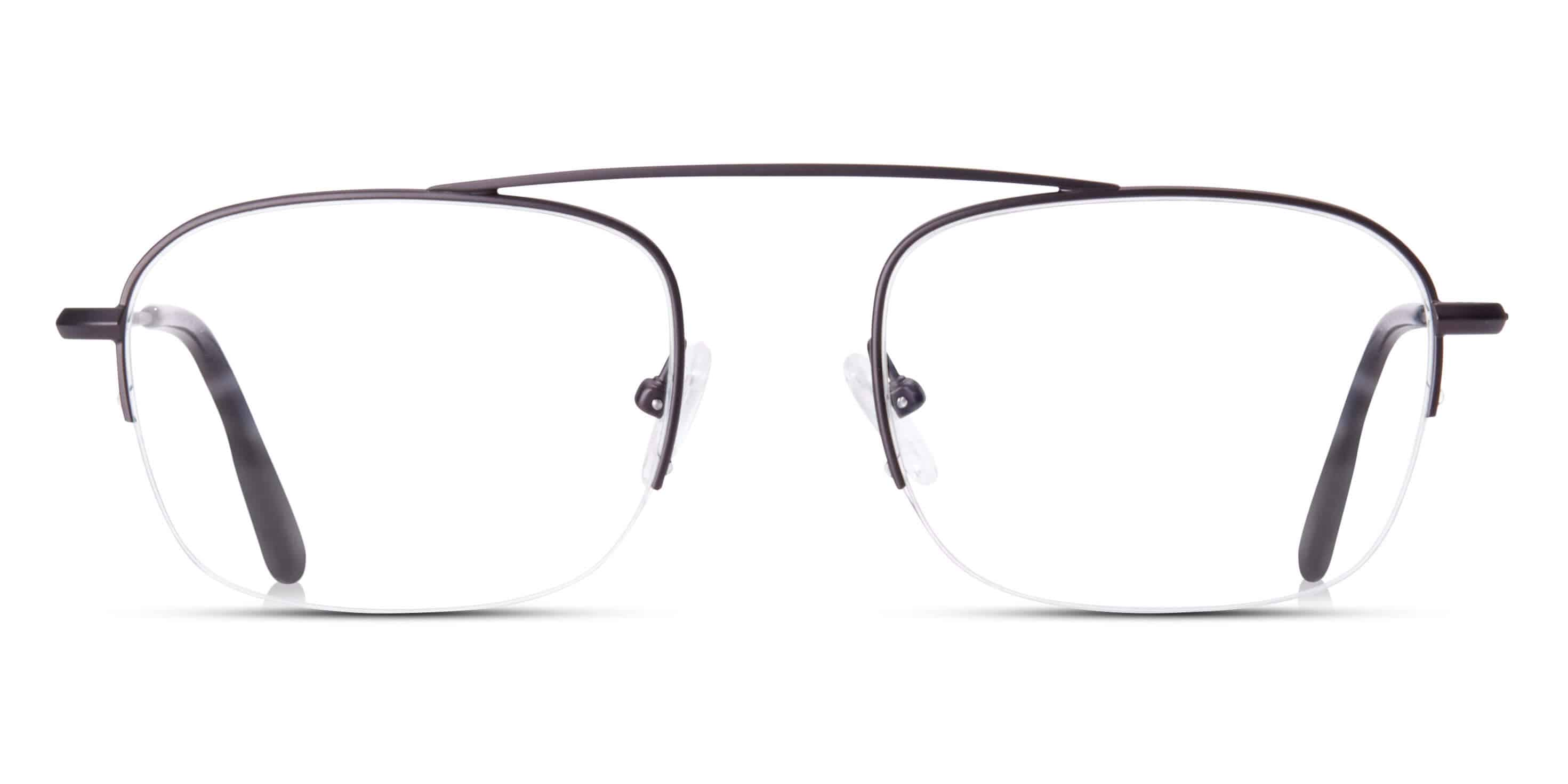Aviator half-frame glasses