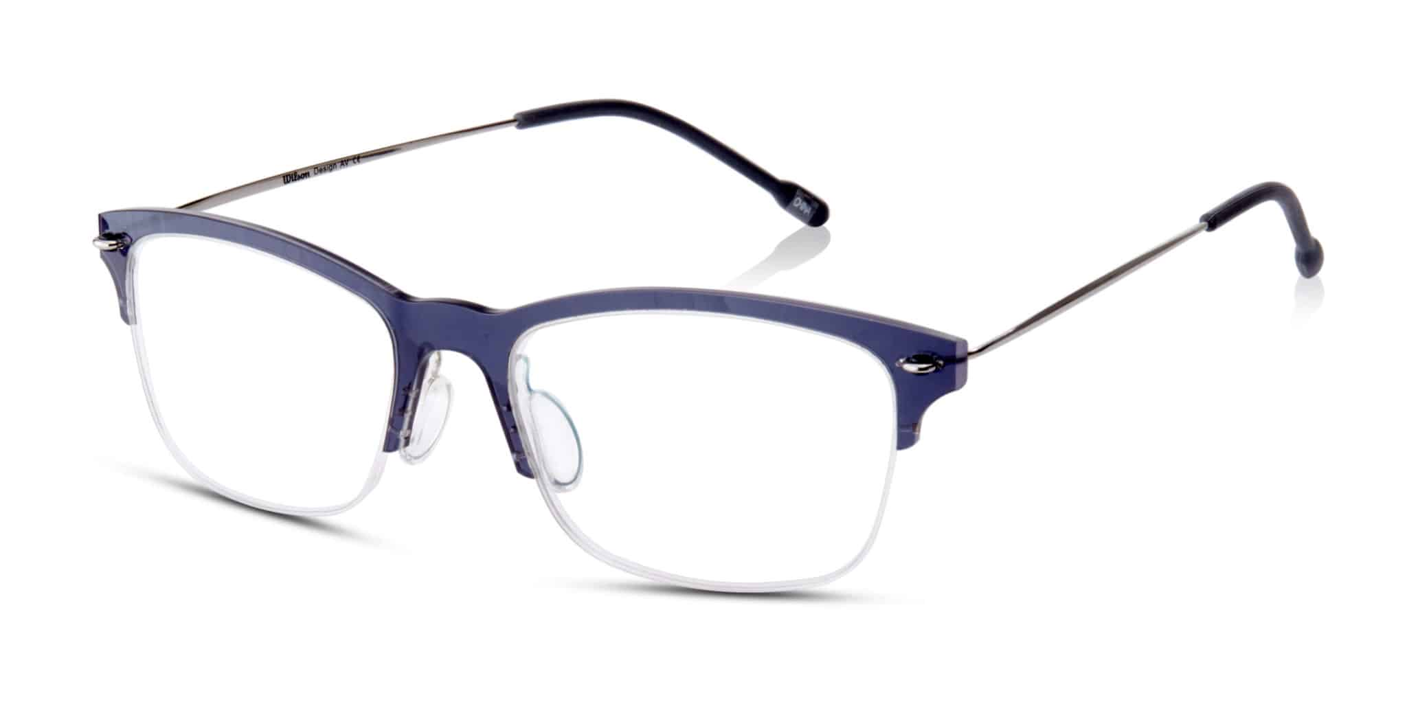 WILSON- חצי מסגרת פלסטיק כחול/סגול עדין