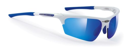 Noyz white gloss with multilaser blue lenses