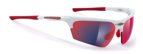 Noyz white gloss with multilaser red lenses