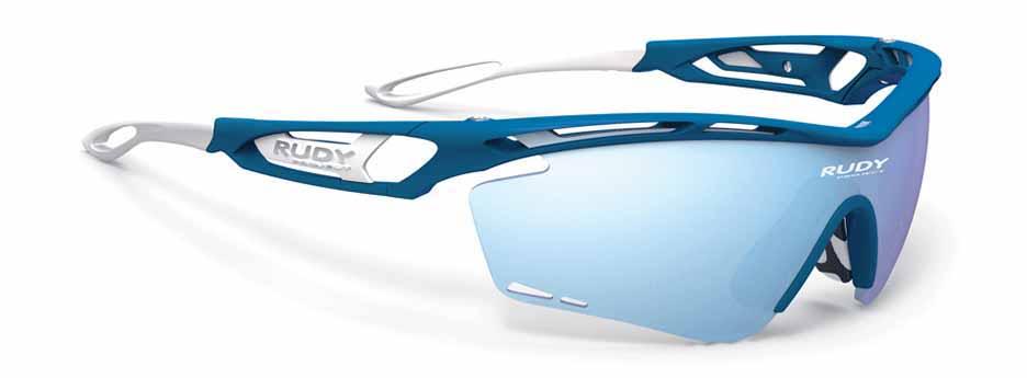 Tralyx כחול ולבן עם עדשות כחולות